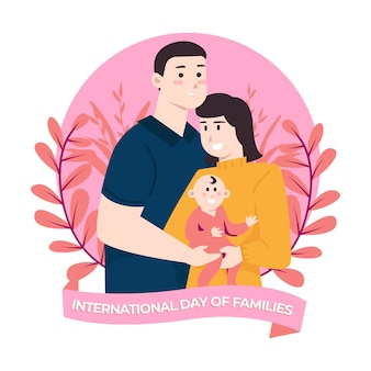 Flat design international day of families