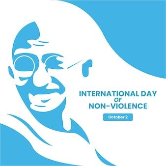 Giornata internazionale di design piatto sullo sfondo della non violenza