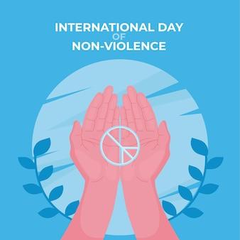 Flat design international day of non violence