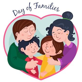Плоский дизайн международный день семей