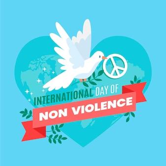 Международный день ненасилия в плоском дизайне