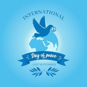 平和の背景のフラットデザイン国際デー