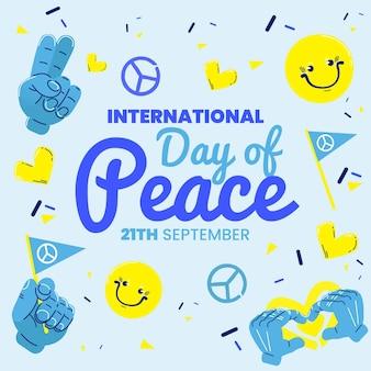 평면 디자인 국제 평화 개념의 날