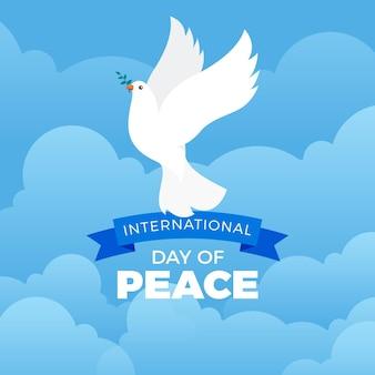 フラットデザイン国際平和デーの日