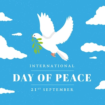 Плоский дизайн международный день мира концепции