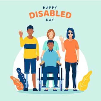 장애인의 평면 디자인 국제 날
