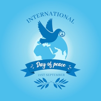 Flat design international day of peace background