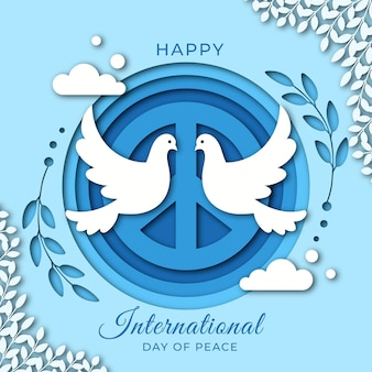 Flat design international day of peace background