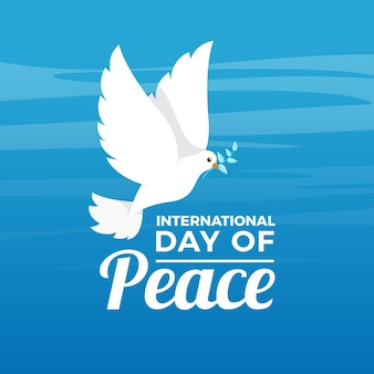 Flat design international day of peace concept