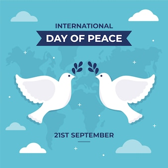 Flat design international day of peace