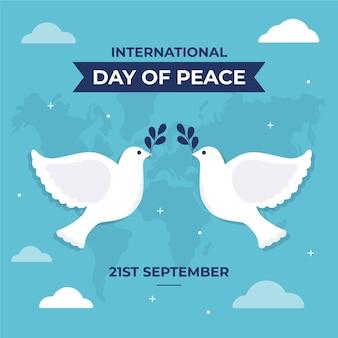 Design piatto giornata internazionale della pace