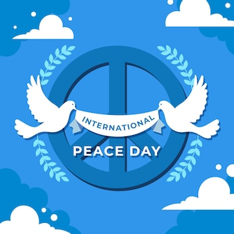 Flat design international day of peace