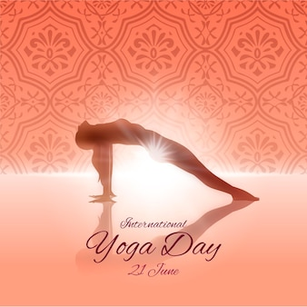 Flat design international day of yoga