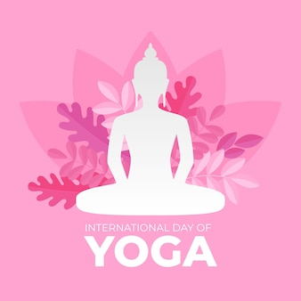 Flat design international day of yoga