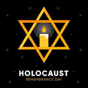 Flat design international holocaust remembrance day