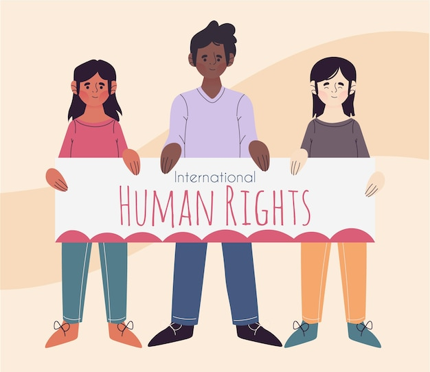 Flat design international human rights day