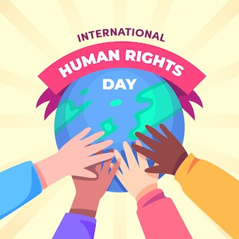 Международный день прав человека в плоском дизайне