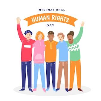 Giornata internazionale dei diritti umani di design piatto