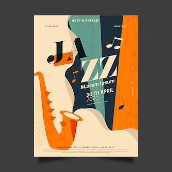 Концепция дизайна международный день джаза плоский дизайн