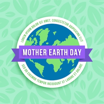 Flat design international mother earth day