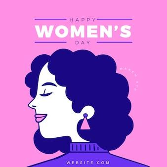 Giornata internazionale della donna di design piatto