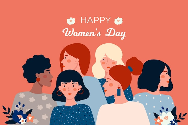 Flat design international women day