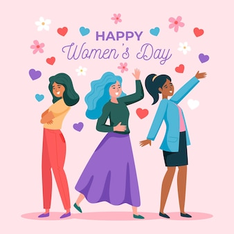 Flat design international women's day illustrated