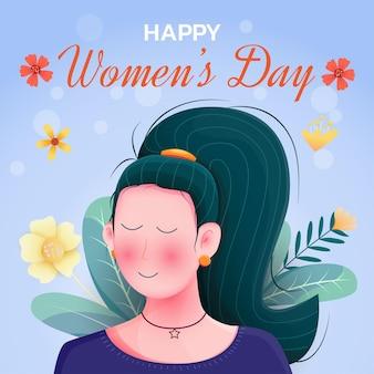 Международный женский день в плоском дизайне