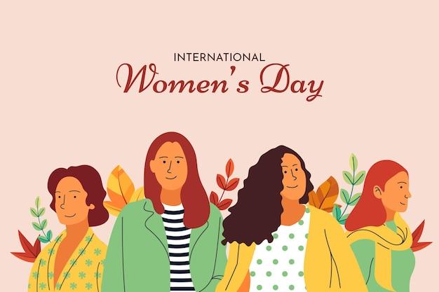 フラットデザインの国際女性の日