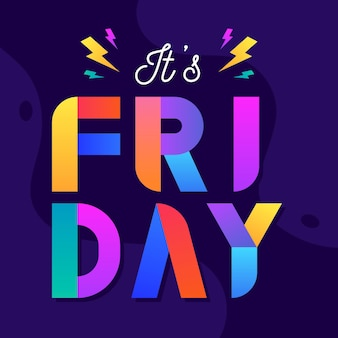 Flat design it's friday background