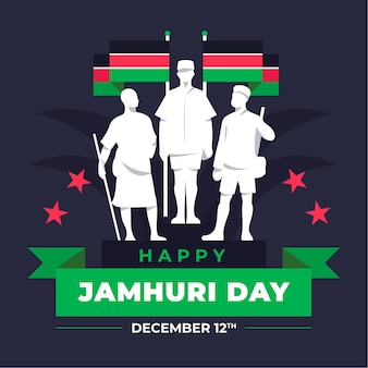 Flat design jamhuri day with characters