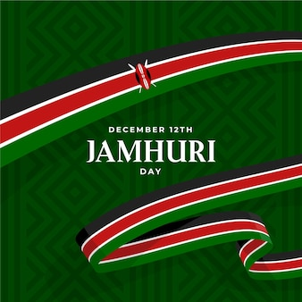 Flat design jamhuri day