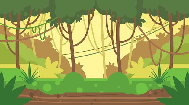 Плоский дизайн фона джунглей