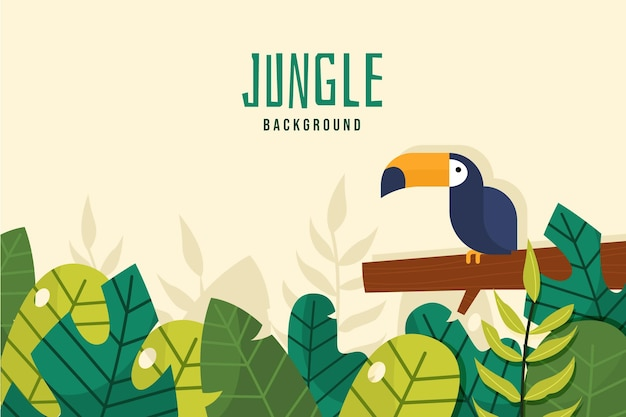 Flat design jungle background