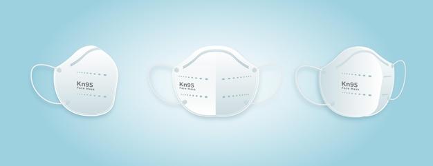 Maschera facciale kn95 design piatto