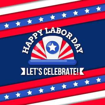Flat design labor day celebration