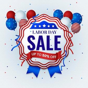 Flat design labor day sale