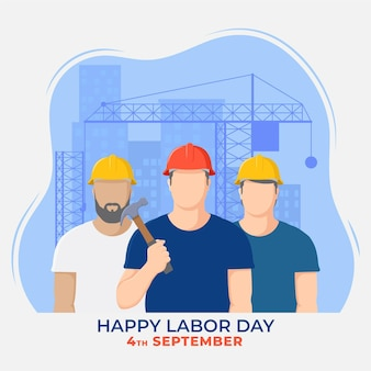 Flat design labor day