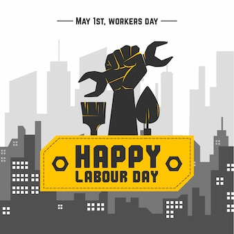 Flat design labour day design