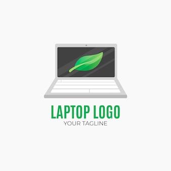 평면 디자인 노트북 로고 템플릿