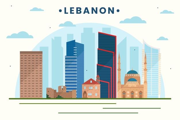 Orizzonte del libano di design piatto