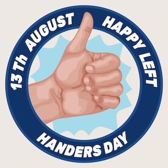 Flat design left handers day background