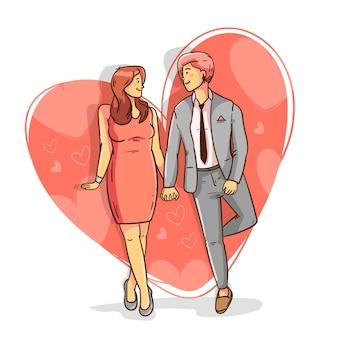 평면 디자인 레즈비언 커플 사랑 그림