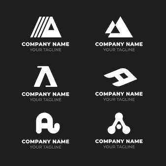 Flat design a logo templates collection