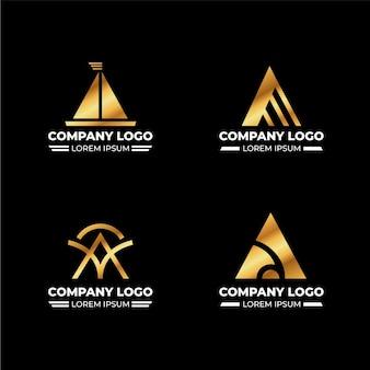 Flat design a logos set