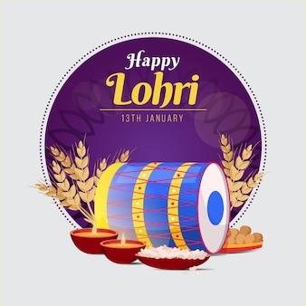 Festival di lohri design piatto