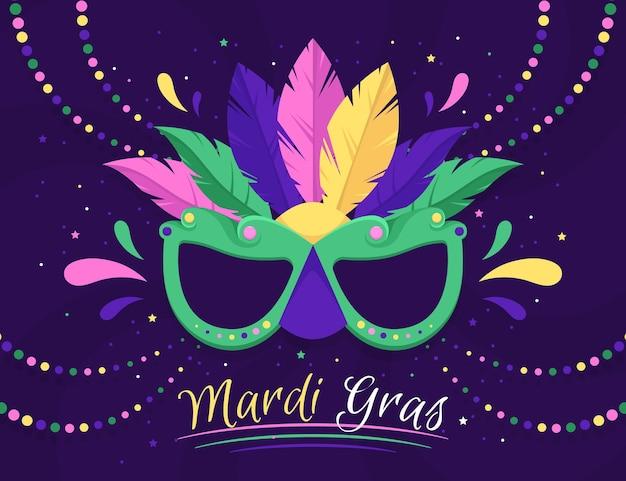 Carnevale mardi gras design piatto