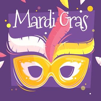 Flat design mardi gras concept