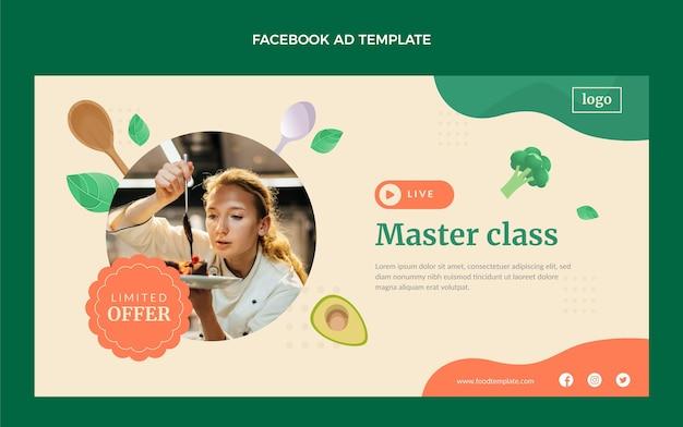 Modello di facebook di classe master di design piatto