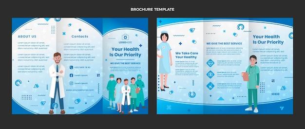 Медицинская брошюра в плоском дизайне